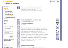 Website Lufthansa School of Business