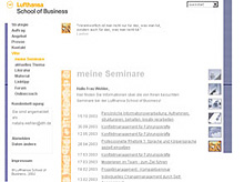 Website Lufthansa School of Business: Seminaranzeige